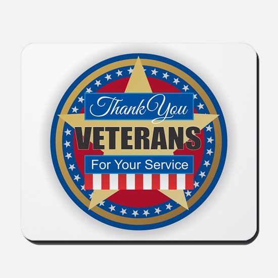Thank You Veterans Mousepad