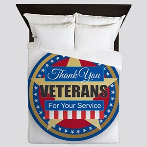 Thank You Veterans Queen Duvet
