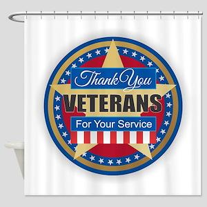 Thank You Veterans Shower Curtain