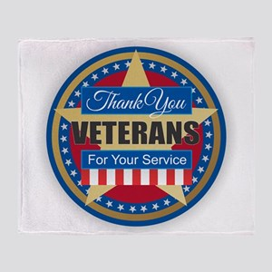 Thank You Veterans Throw Blanket