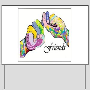 ASL Friends Yard Sign