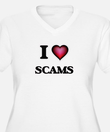 I Love Scams Plus Size T-Shirt
