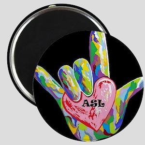 I Heart ASL Magnets