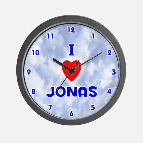 I Love Jonas (Blue) Valentine Wall Clock