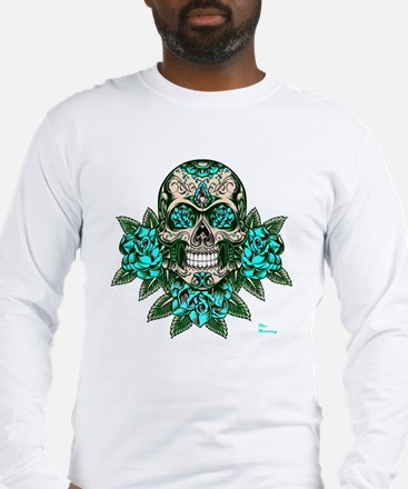 Cute Day of the dead skull Long Sleeve T-Shirt