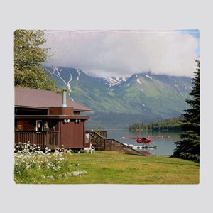 Trail Lake, Moose Pass, Alaska Throw Blanket