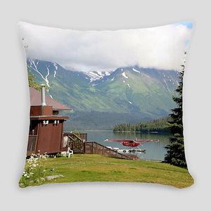 Trail Lake, Moose Pass, Alaska Everyday Pillow