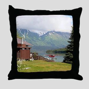 Trail Lake, Moose Pass, Alaska Throw Pillow