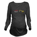 I Love Diggers Long Sleeve Maternity T-Shirt