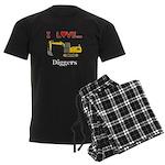 I Love Diggers Men's Dark Pajamas