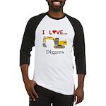 I Love Diggers Baseball Jersey