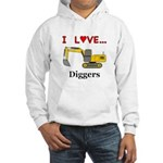 I Love Diggers Hooded Sweatshirt