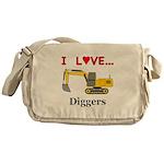 I Love Diggers Messenger Bag