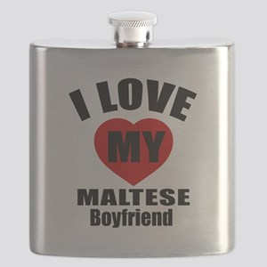 I Love My Malta Boyfriend Flask