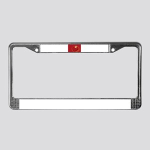 Love Heart Candle License Plate Frame