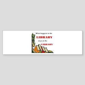 LIBRARY Bumper Sticker