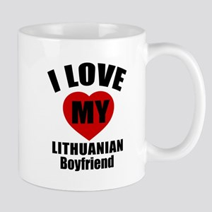 I Love My Lithuania Boyfriend Mug