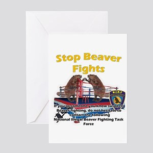 Stop Beaver Fights Greeting Card