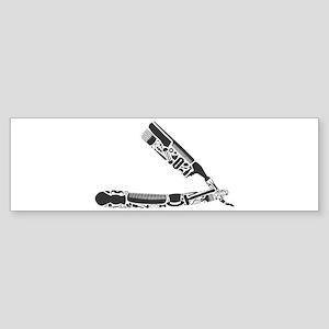 barber razor collage Bumper Sticker