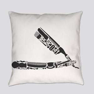 barber razor collage Everyday Pillow