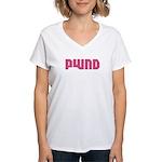 POWND Women's V-Neck T-Shirt