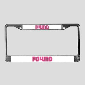 POWND License Plate Frame