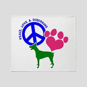 P,L,DOBERMANS Throw Blanket