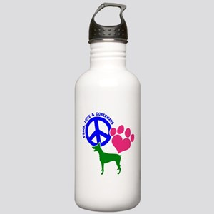 P,L,DOBERMANS Stainless Water Bottle 1.0L