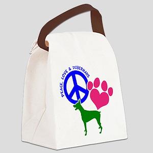 P,L,DOBERMANS Canvas Lunch Bag