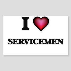 I Love Servicemen Sticker