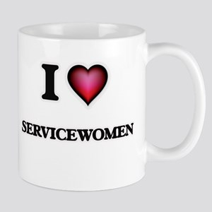 I Love Servicewomen Mugs