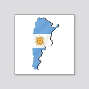 Argentina Flag Map Sticker