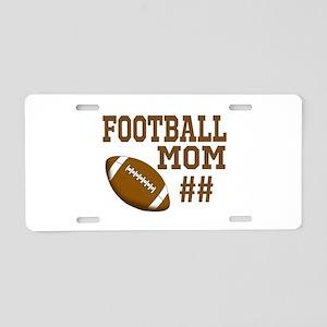 Football Mom Aluminum License Plate