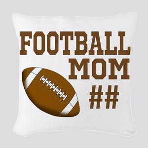 Football Mom Woven Throw Pillow