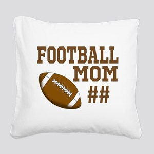 Football Mom Square Canvas Pillow
