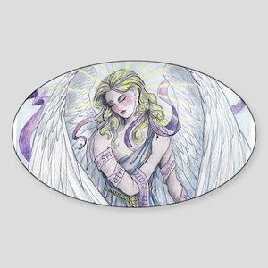 Angel Oval Sticker