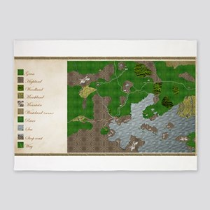 RPG Map Cuanscadan 5'x7'Area Rug