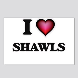I Love Shawls Postcards (Package of 8)