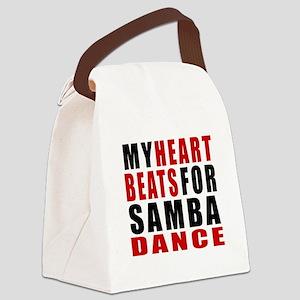 My Heart Beats For Samba Dance De Canvas Lunch Bag