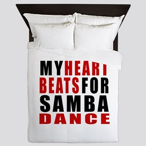 My Heart Beats For Samba Dance Designs Queen Duvet