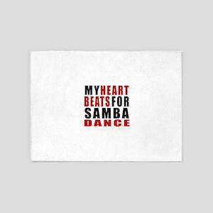 My Heart Beats For Samba Dance Desi 5'x7'Area Rug