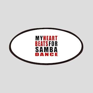 My Heart Beats For Samba Dance Designs Patch