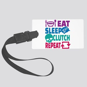 Eat Sleep Clutch Repeat E-Gaming Large Luggage Tag