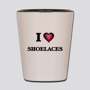 I Love Shoelaces Shot Glass