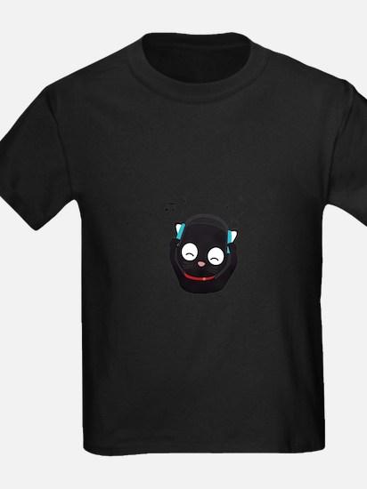 Music Cat with headphones T-Shirt