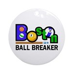 Boston Ball Breaker Ornament (Round)