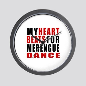 My Heart Beats For Merengue Dance Desig Wall Clock