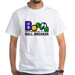 Boston Ball Breaker White T-Shirt