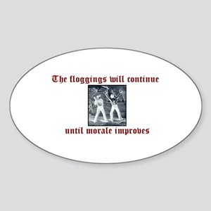 Flogging Oval Sticker