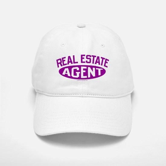 REAL ESTATE AGENT (Purple) Baseball Baseball Cap